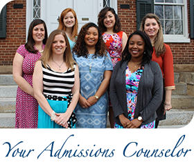 Your Admissions Counselor - a person who will change your life.