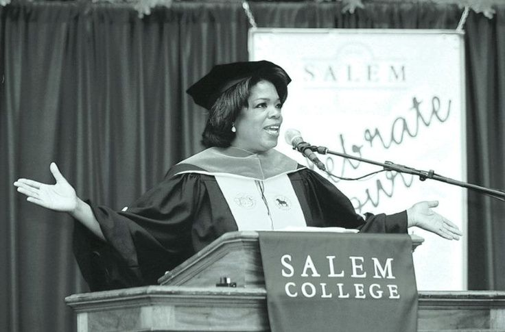 Oprah Speaking at a Salem College Commencement