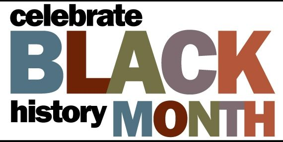 "Graphic with words ""Black History Month"""