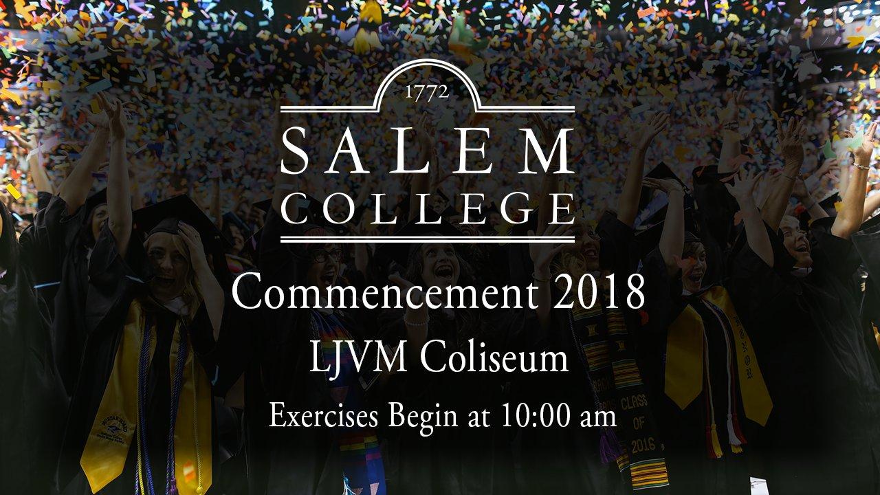 Salem College Commencement 2018