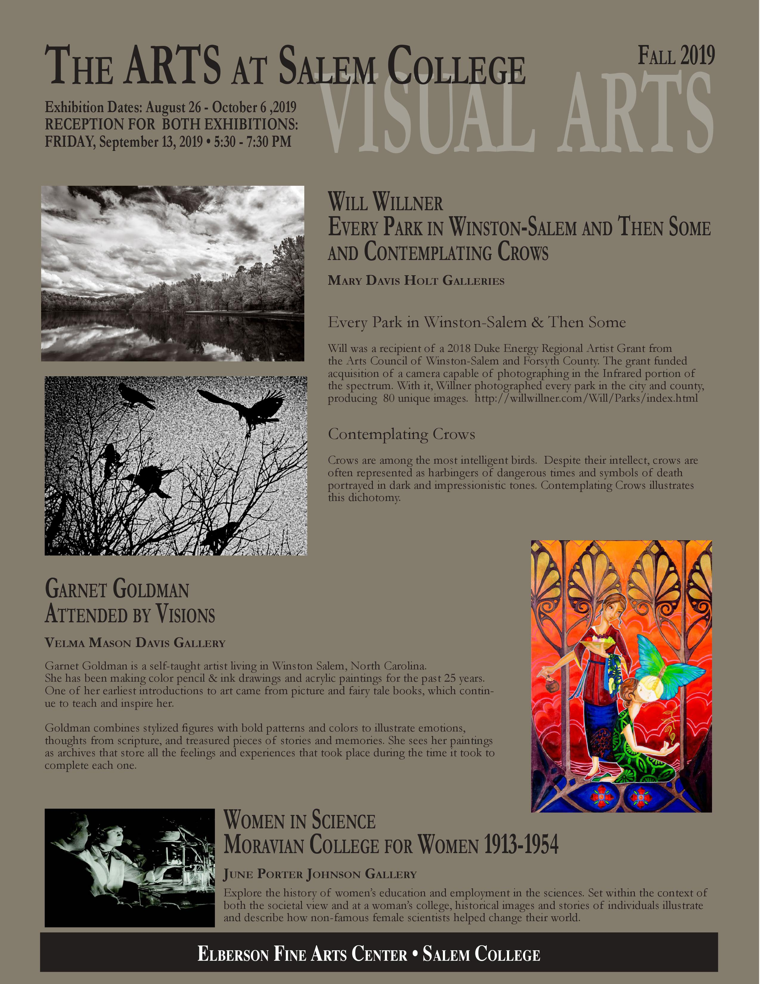 Fine Arts Reception flyer; details on this page
