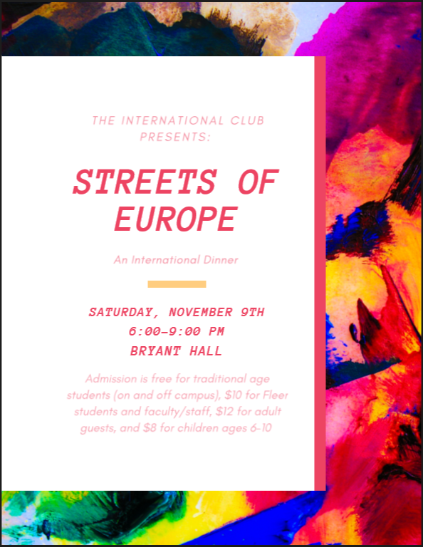 International Dinner - Streets of Europe