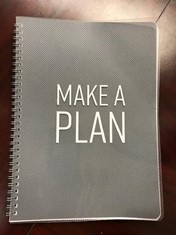 make a plan on cover of journal