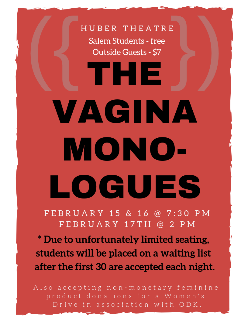 vagina monologues flyer