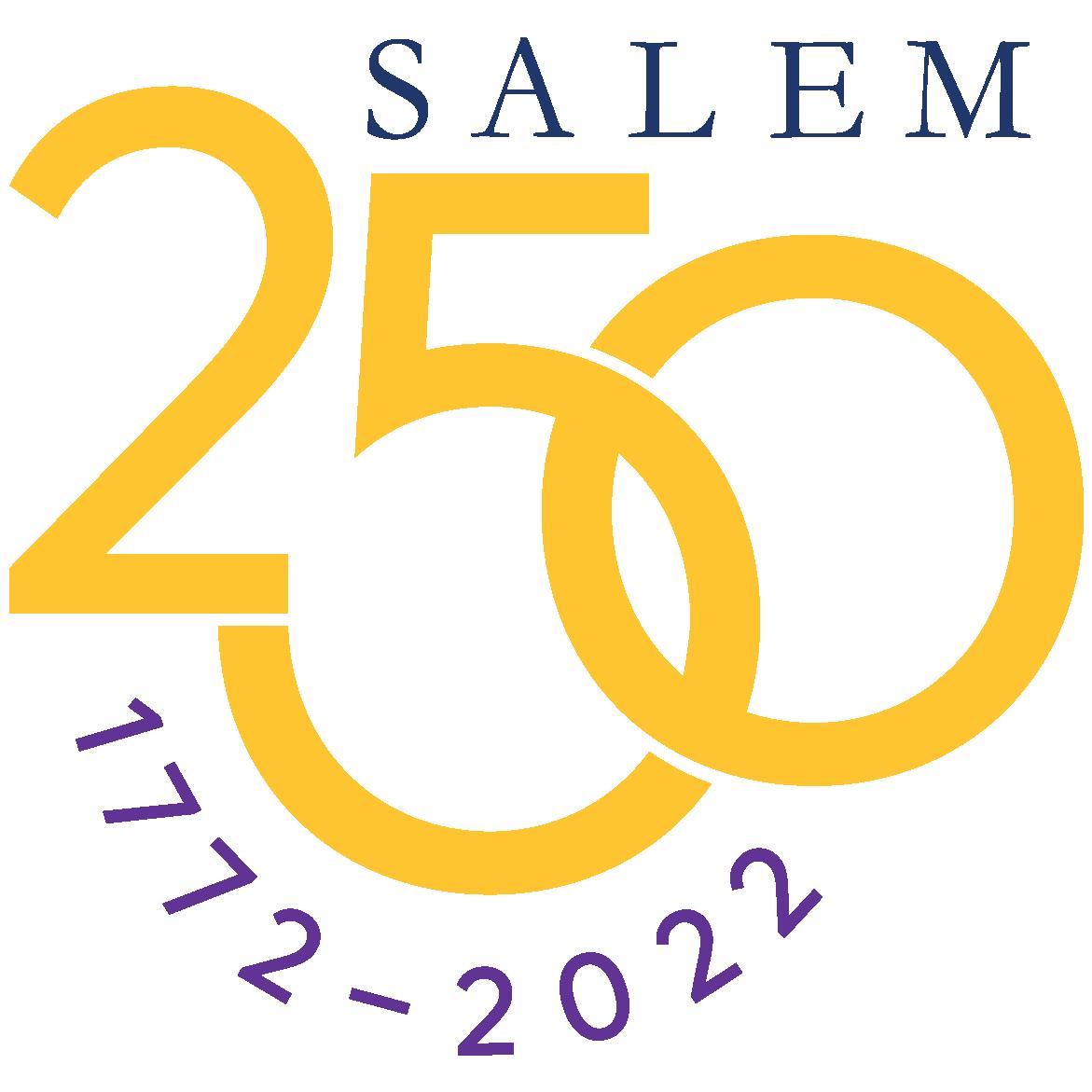 Salem 250 logo 1772-2022