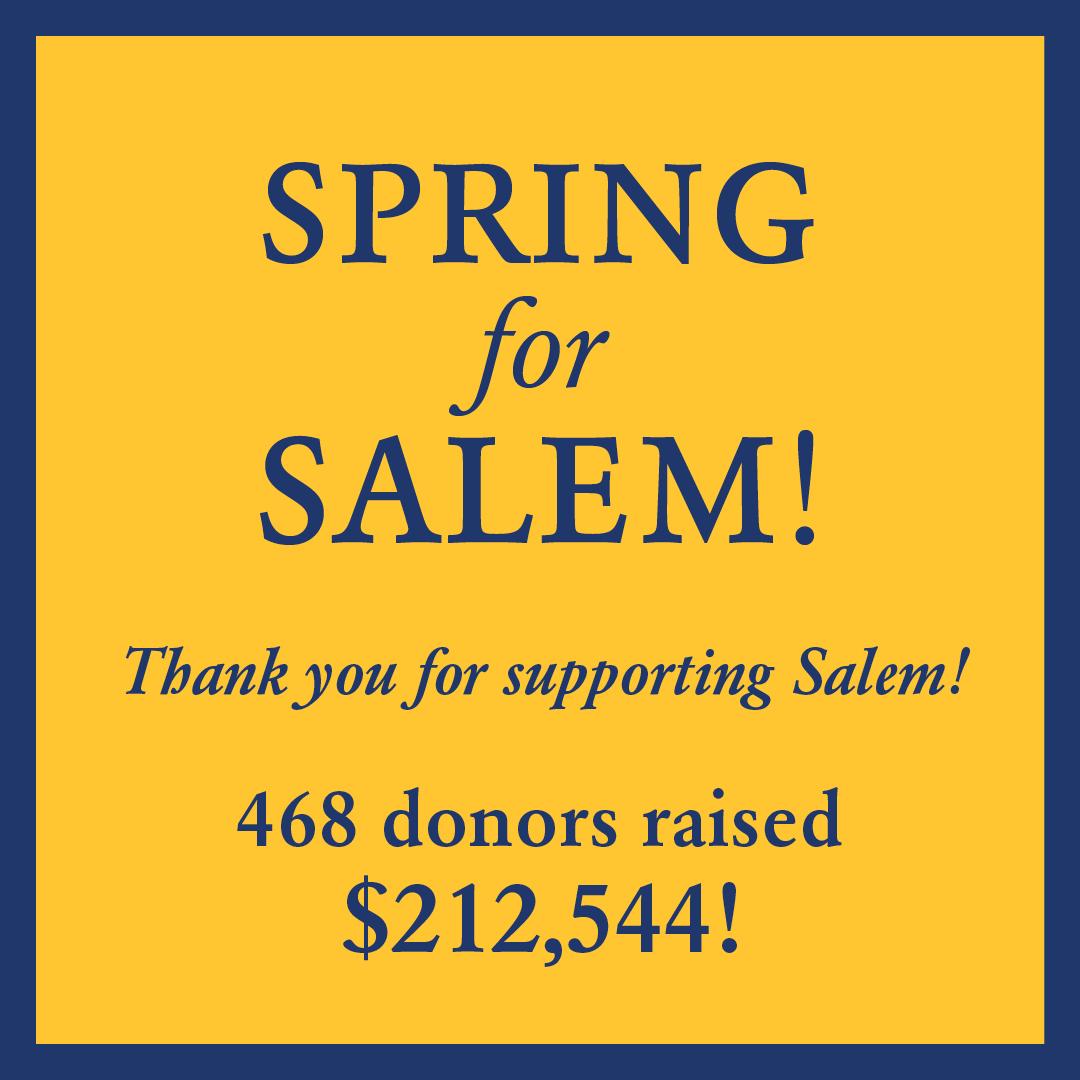 Spring for SALEM! info below