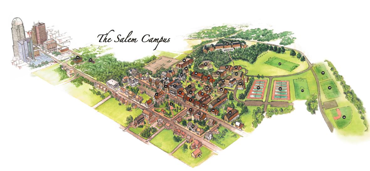 Campus Map  Salem College