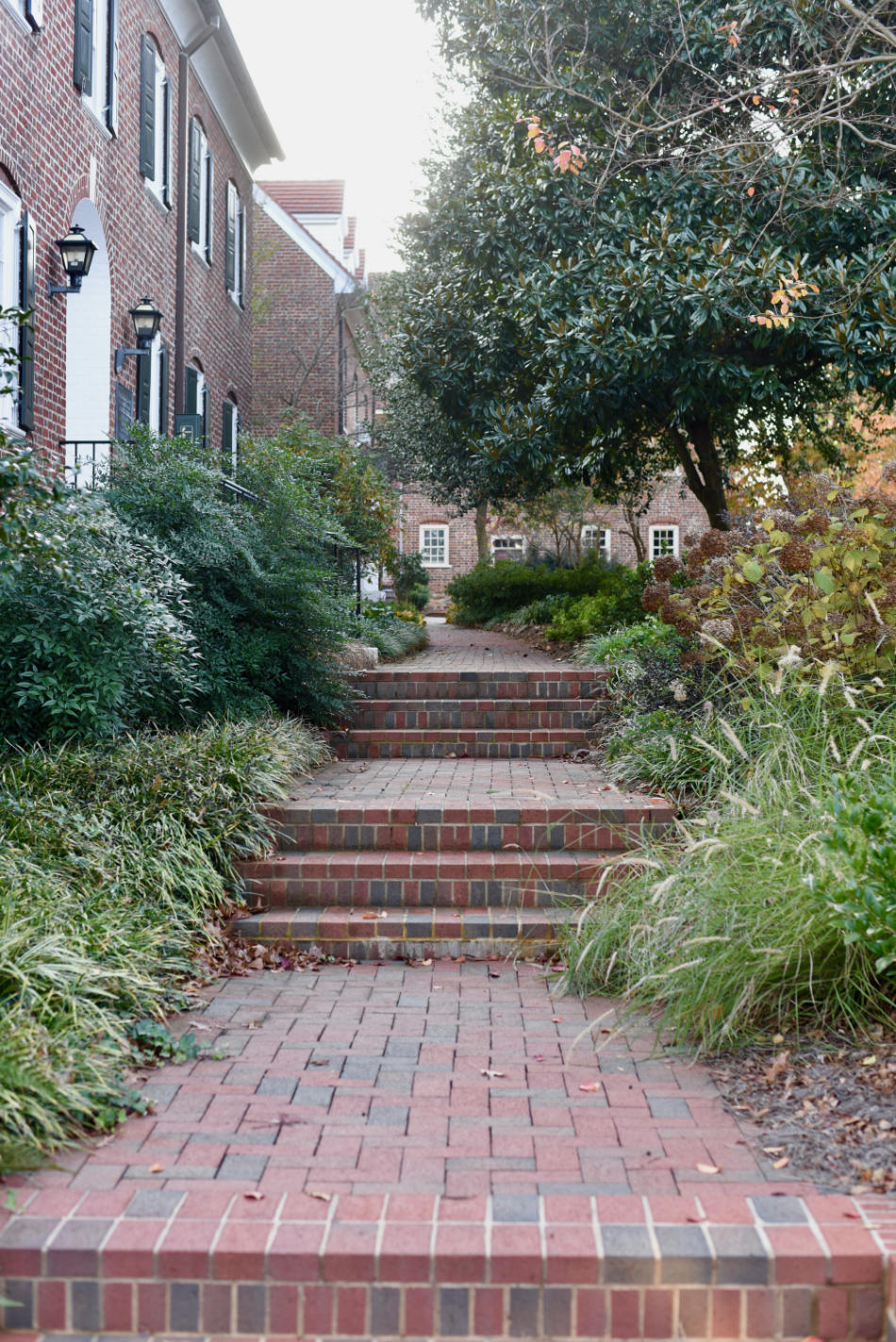 series of brick stairs on salem's campus