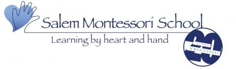 Salem Montessori School Logo - Learning by heart and hand