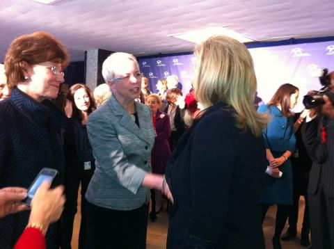 President Susan Pauly at event