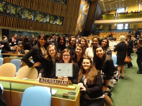 Salem students at the model UN Conference