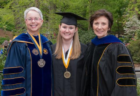 Cassandra Hardy with President Pauly and Dean Caloviny