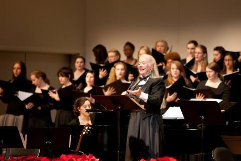Salem choirs on stage