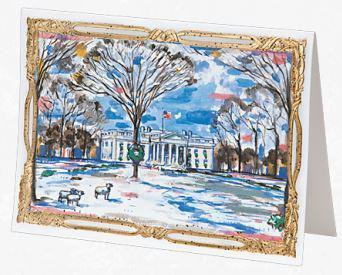 Watercolor Christmas Card by John Hutton