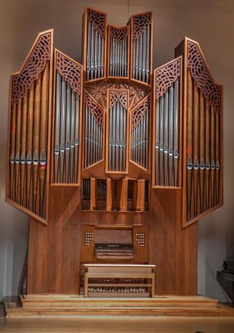 photo of the Flentrop Organ in the Fine Arts Center