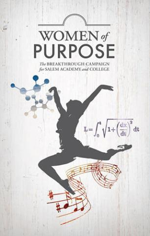 Women of Purpose Poster with logo and leaping silhouette