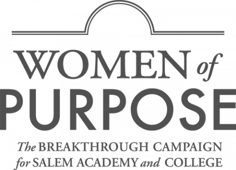 Women of Purpose logo - the BREAKTHROUGH CAMPAIGN for SALEM ACADEMY and COLLEGE