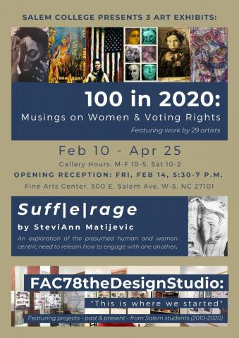 Salem College Presents 3 Art Exhibits; see details here on the event page