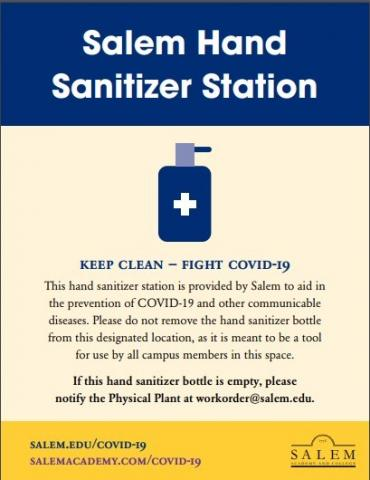 Salem Hand Sanitizer Station