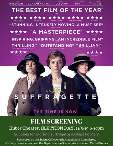 Suffragette Film Screening flyer, see event page for details