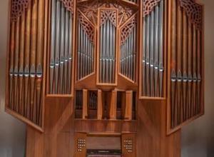 Photo of Flentrop organ in Shirley Recital Hall