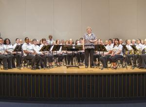 Photo of Salem Band in Hanes Auditorium