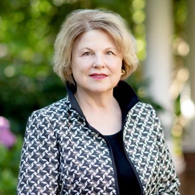 photo of President Sandra Doran by the RG House