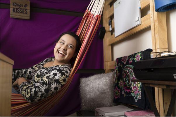 Alanna Natanson in a hammock