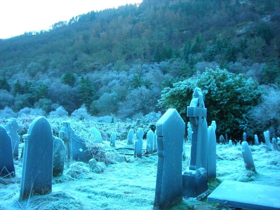 winter irish cemetery